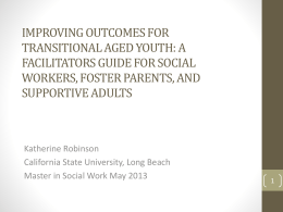 Improving Outcomes for Transitional Aged Youth