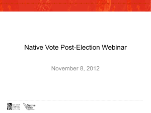 2012 Native Vote Post-Election Webinar