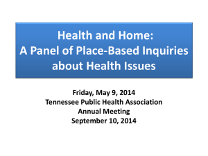 Place based Session - Tennessee Public Health Association