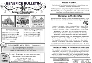 Benefice Bulletin 14 December 2014
