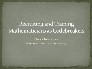 Recruiting mathematicians as codebreakers