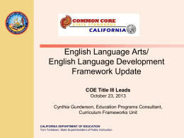 COE Title III Leads 10-23 - Riverside County Office of Education