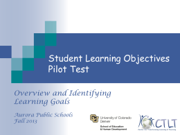 Assessment for Learning - Educator Effectiveness