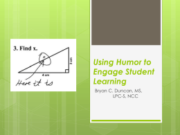 Using Humor to Engage Student Learning