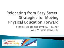 Relocating from Easy Street: Strategies for Moving Physical