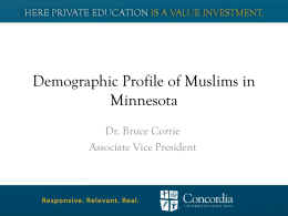 Demographic Profile of Muslims in Minnesota