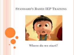Standards Based IEP Training - Alexandria, Minnesota School