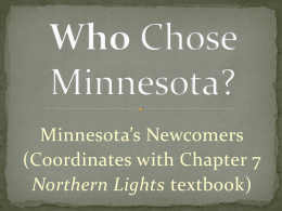 Who Chose Minnesota - Who Built Our Capitol?