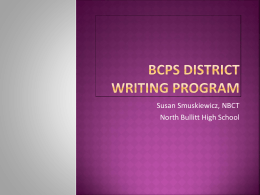 BCPS DISTRICT Writing program - Bullitt County Public Schools