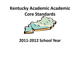 Kentucky Academic Core Standards