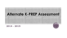 Alternate K-PREP Aligned Content Standards