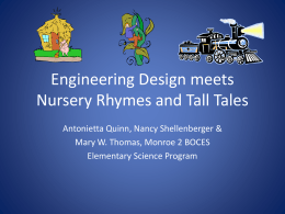 Engineering Design meets Nursery Rhymes and Tall Tales
