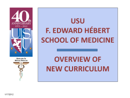 Overview of USU Molecules to Military Medicine Curriculum