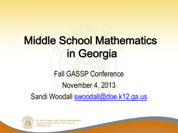 GASSP Conference: MS Mathematics Powerpoint