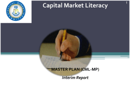Capital Market Literacy - Securities and Exchange Commission