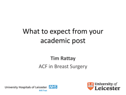 What to expect from your academic post