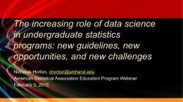 The increasing role of data science in undergraduate statistics