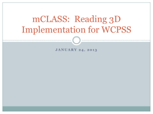 Reading 3D Implementation for WCPSS