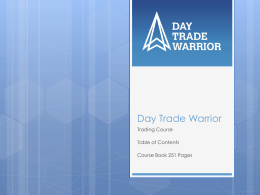 Table of Contents - Day Trade Warrior