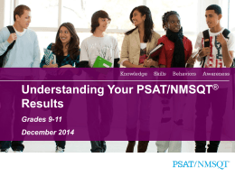 Understanding Your PSAT/NMSQT® Results
