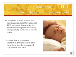 Developmental TIPS - University of Nebraska Medical Center