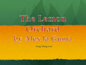 The Lemon Orchard by Alex la Guma - MrF-EFC