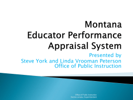 Montana EPAS Educator Performance Appraisal System