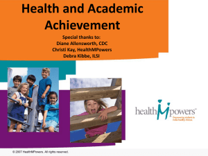 Health and Academic Achievement