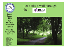 Walk Through the PARCC