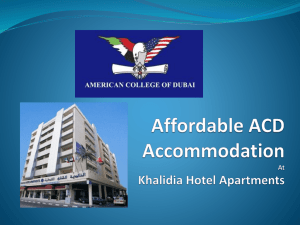 ACD Accommodation At Etisalat Academy Campus