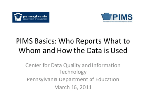 PIMS Basics: Who Reports What to Whom and How Data is Used