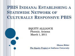 Culturally Responsive PBIS - The Equity Alliance at ASU