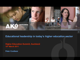 Educational leadership in today`s higher education