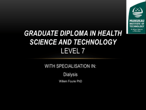 Graduate Diploma in Health Science and Technology Level 7