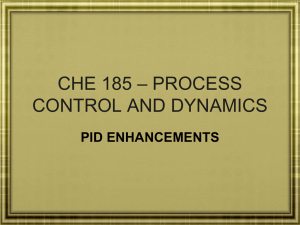 Lect. 26 CHE 185 – PID ENHANCEMENTS