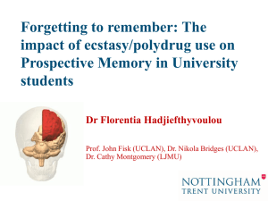 The effect of Ecstasy/polydrug use on Prospective