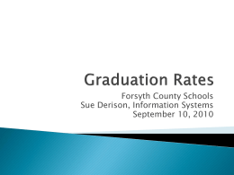 Graduation Rates - Forsyth County Schools