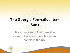 How to Access the Formative Item Bank