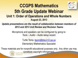 GA DOE_Unit 1 webinar_5th grade