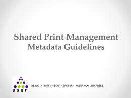 Shared Print Management