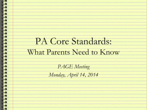 PA Core - Norwin School District