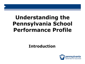 Understanding the Pennsylvania School Performance Profile