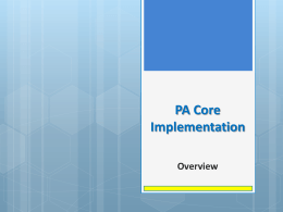 PA Core Overview_PPT