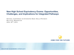 New High School Equivalency Exams