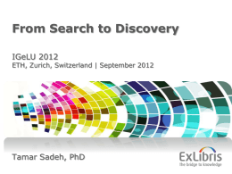 From Search to Discovery