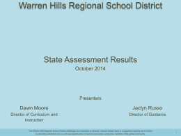 Presentation - Warren Hills Regional School District