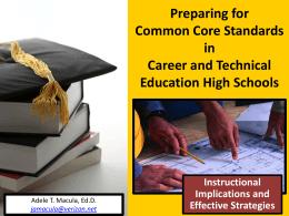 Preparing for Common Core State Standards in