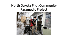 North Dakota Pilot Community Paramedic Project