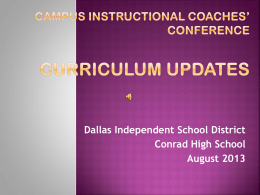 Quality instruction - Dallas Independent School District