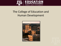College of Education and Human Development 2011-2012